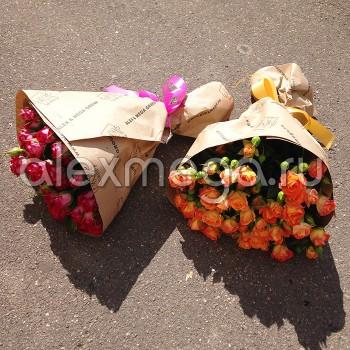 Букет из розы кустовой