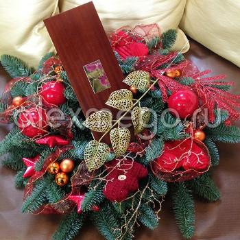 Оформление подарков, праздничные корзины.