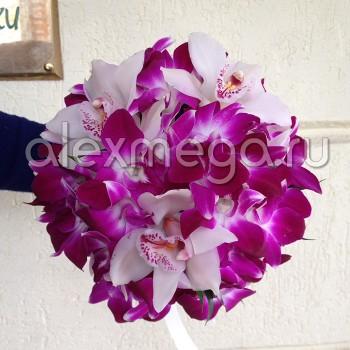 """Букет невесты """"Орхидейный джаз"""""""