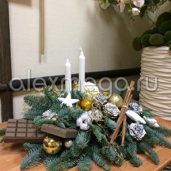 Композиция новогодняя на стол