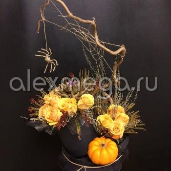"""Композиция Halloween """"Вдохновение флориста"""""""