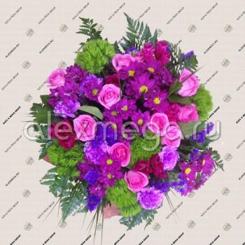 Букет в розово-фиолетовой гамме
