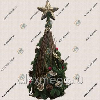 Новогодняя и Рождественская елка, флористика