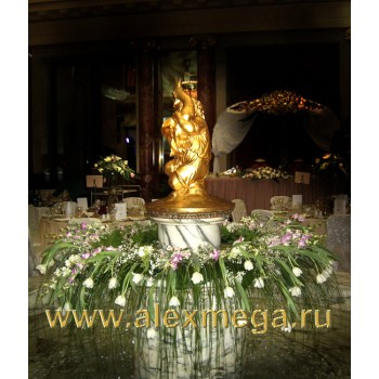 Украшение фонтана, ресторан Метрополь