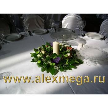 Оформление цветами свадьбы в ресторане