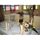 Оформление ресторана Зазеркалье цветами