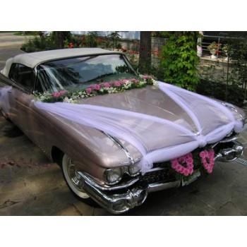 Украшение цветами и тканью Розового КАДИЛЛАКА