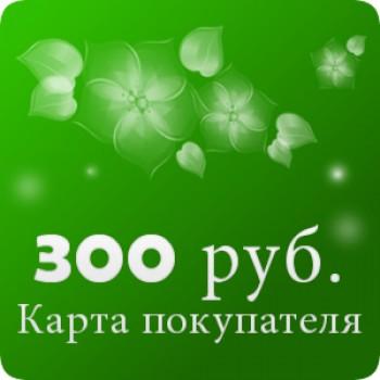 Карта покупателя на 300 рублей